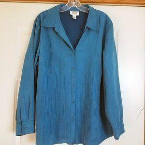 Talbot's Women's Turquoise Button Coat Jacket